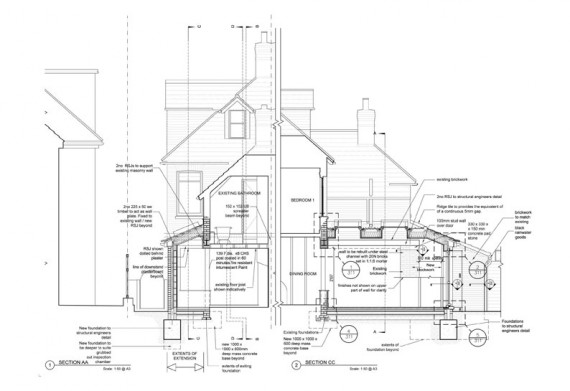 House-Extension-Sections
