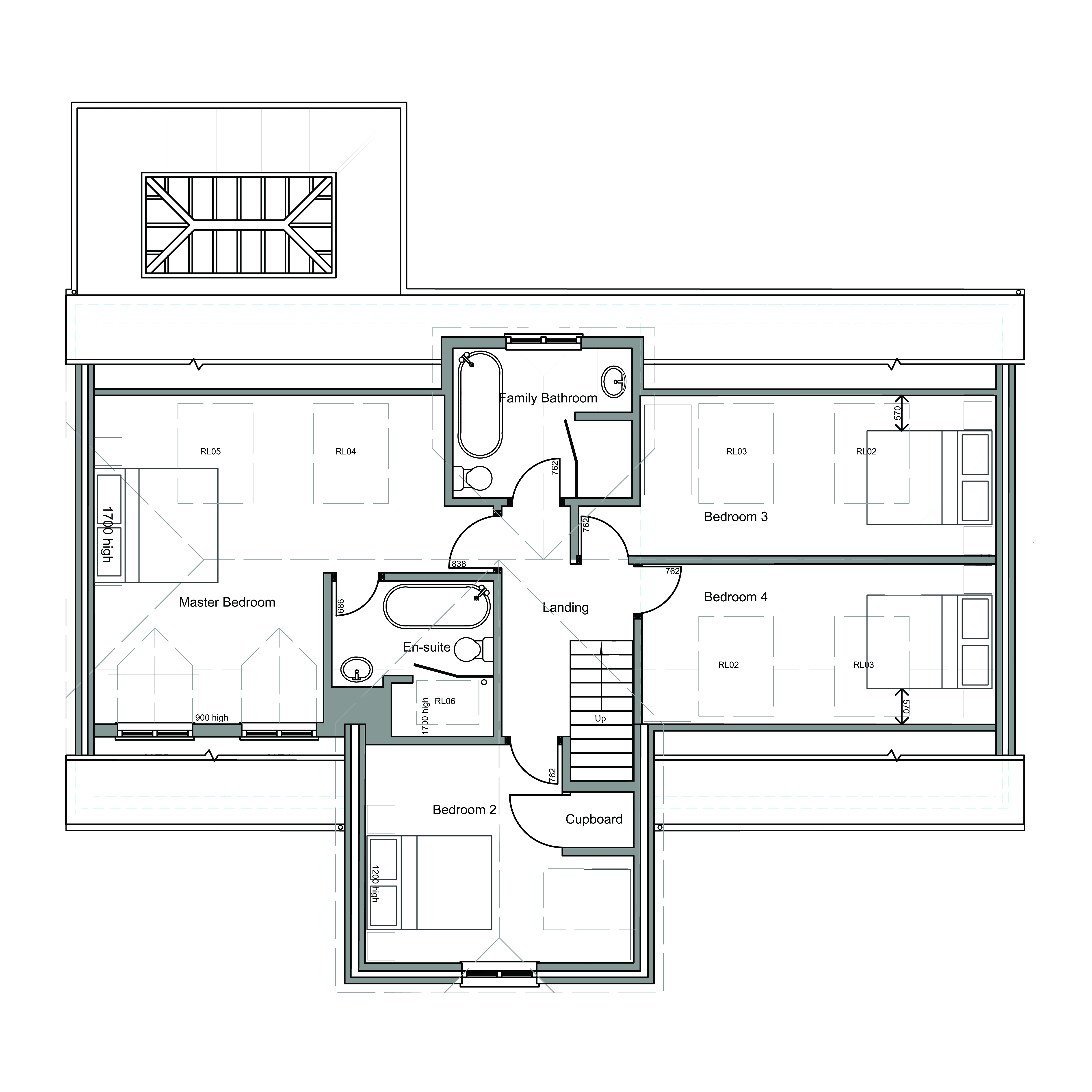 Bungalow converted into 4 bedroom house wiltshire first for 4 bedroom house designs uk