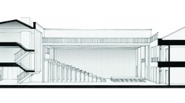 Performing Arts Centre, London - Building Section