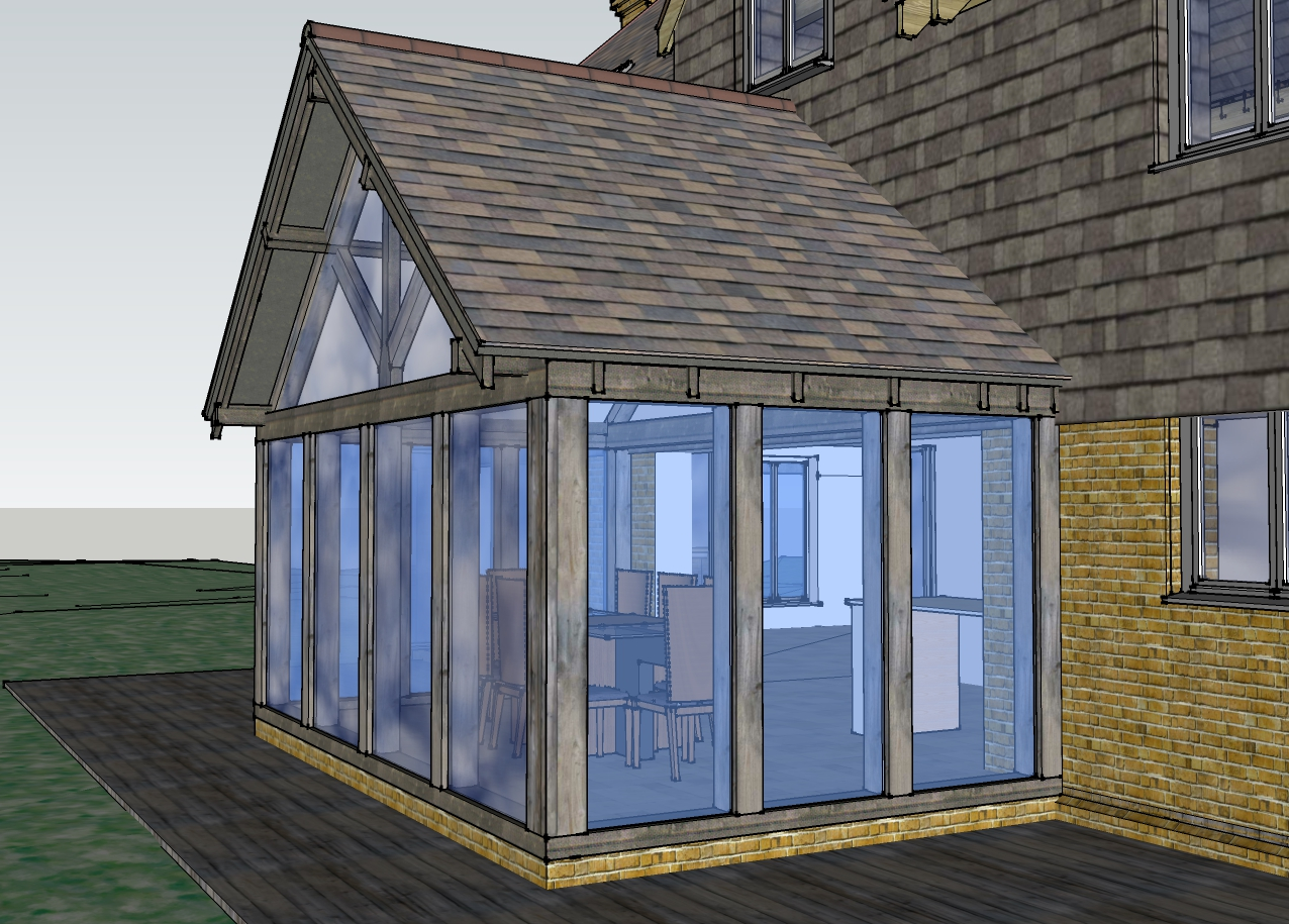 Residential Elevation Plan : New build bedroom house orangery james matley architect